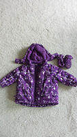 2T / 2 years cute winter Jacket for Girls with matching Mittens
