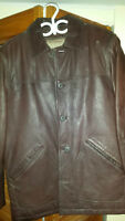 Men's Columbia Leather Jacket with Removable Liner - Almost New!