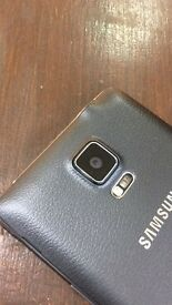 Samsung galaxy note 4 in black colour unlocked 32 gb