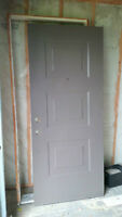 Painted solid steel door and frame $100