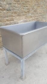 stainless stell trough