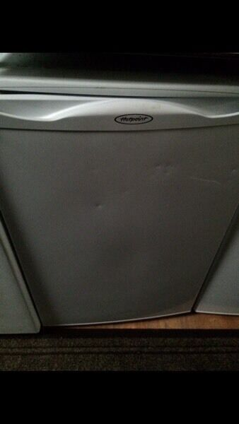 White hotpoint undercounter freezer good condition with guarantee bargain