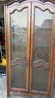 Charming Solid Wood Curio Cabinet