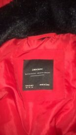 Red Zara coat perfect for winter £40