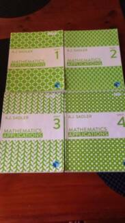Maths Applications Textbooks Units 1,2,3 and 4