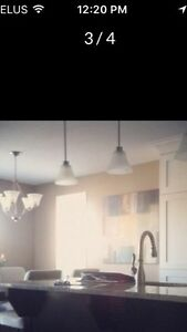 Pendant Lights x 3 (with chandelier)