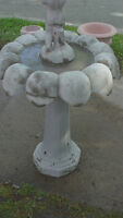 New photos  concrete pots ,birdbath/pedestals,benches