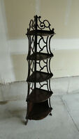Antique Corner Display Shelving Unit -- Hand made