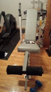 TuffStuff Narrow Bench Squat Rack w Leg Extension no weights bar