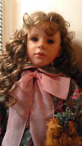 Beautiful large china porcelain doll. Must see - great gift!