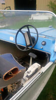 aluminum fishing boat with 20hp engine AND new trailer