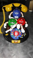 Vintage animated M & M's collectable phone - very unique