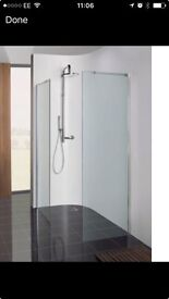 1100 x 1950 Simpsons Self Cleaning Wet Room / Walk In Shower Screen