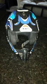 Motor cross helmet.