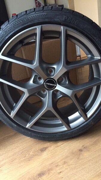 Brand New Borbet Y Matt Titan Alloys Wheels With Tyres