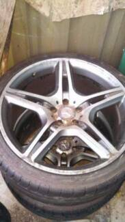Mercedes AMG 20inch Wheels and like new tyres, Fits other cars Greenacre Bankstown Area Preview