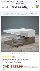 Modern contemporary coffee table-New
