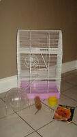 Large Rat / Hamster Three Level Cage with Supplies