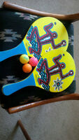 water paddles, indoor paddles and balls