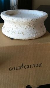 Gold Canyon Stoneware Pedestal. New in box