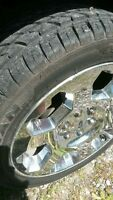 """20"""" chrome rims and tires"""