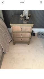 Feather & Black - gatsby - 2x bedside tables, 1x cheat of draws