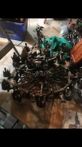 """Old """"gothic"""" style chandelier."""