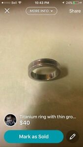 titanium ring with thin grooves