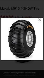 1 - set of Maxxis  4-SNOW TIRES  ( no rims included )