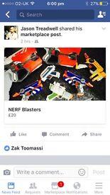 Bundle of nerf blasters
