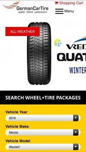 Winter package (tires on wheels) for 2016 Mazda 3.