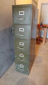 Filière Commercial a 5 tiroirs vert militaire !
