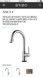 Brizo Kitchen Faucet with smart touch technology