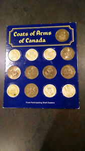 Shell Coats Of Arms/Floral Emblems of Canada Coin Set Kitchener / Waterloo Kitchener Area image 3