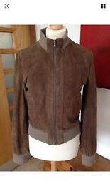 Zara real suede jacket size 10-12