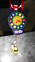 Vintage animated M & M' s collectable wall clock - very unique