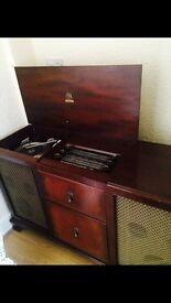 1965 antique Radiogram stereogram cabinet record player