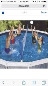 Volleyball net for pool