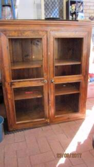 Vintage Cabinet with Chook Wire in Doors