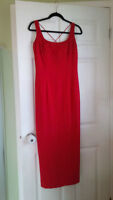 Red Evening Dress- Size 14