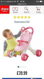 Fisher Price musical walker new