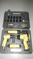 Hardly used 40 pc. air tool set in case