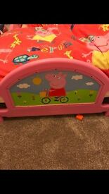 Toddlers peppa pig bed