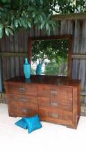 Dresser Tallboy Chest Of Drawers Matching Mirror Distressed Coogee Eastern Suburbs Preview