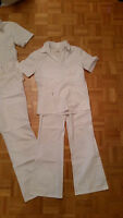 NURSE/S OR ESTHETICIAN/S WHITE UNIFORMS  SIZE XS,XXS