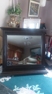 wood mirror  new  still in the box size 48 w x 44 London Ontario image 2