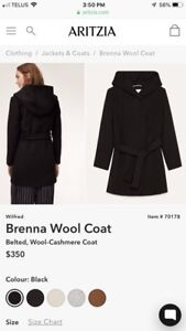Aritzia Wilfred Wool Coat XXS