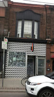 College Clinton Little Italy large 2br,den,over shop,AUG,$1799