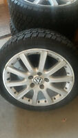 Winter tires on VW JETTA aluminum wheels