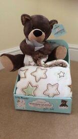 Bear and Blanket Gift Set - Brand new